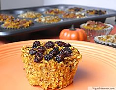 Personalized Pumpkin Baked Oatmeal Cups: Gluten Free & Diabetic Friendly | SugarFreeMom.com
