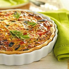 receta de quiche de verduras baja en grasa Empanadas, Sin Gluten, Vegetable Pizza, Menu, Vegetables, Breakfast, Arusha, Food, Blame