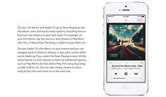 iTunes Radio helps you fine-tune your stations to your own taste, or skip a song to help you listen to what you want.