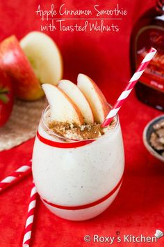 Apple Cinnamon Smoothie with Toasted Walnuts