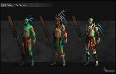 Aztec_Mayan warrior concepts by EleosInteractive on DeviantArt