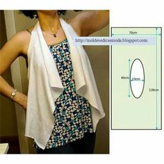 Practical Cut, Easy Sew Vest Model, mold and productions, waistcoat free … - Schnittmuster Diy Clothing, Sewing Clothes, Clothing Patterns, Dress Patterns, Fashion Sewing, Diy Fashion, Ideias Fashion, Sewing Hacks, Sewing Tutorials