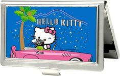 ff6bd7d05 Amazon.com: Buckle-Down Business Card Holder - Hello Kitty Cruising in Pink  Car - Large: Clothing
