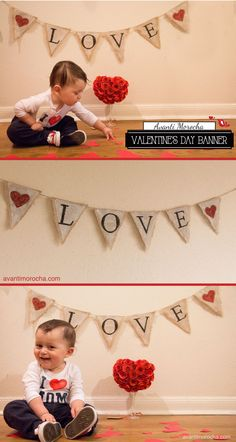 DIY Valentine's Day Banner / San Valentin Great for Valentine's Photo