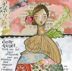 I've been getting quiet. Ohhhh, the peace that lives inside the stillness