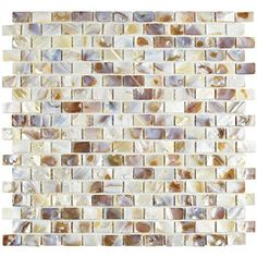 Seashell Subway Natural 11 34 x 11 34 Inch Shell Mosaic Wall Tile 10 Pcs 96 Sq Ft Per Case Free Standard Shipping *** Click on the image for additional details.