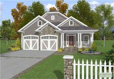 This surprisingly spacious 2,296 sq. ft. narrow lot design is accented with stone, cedar shakes and carriage style garage doors.   An irresistible wrap-around porch makes a great first impression.  Just beyond the entry is a dining room with a dramatic 18 vaulted ceiling which continues to the hearth-warmed 178 x 233 family room.  Across from the dining room is a feature sure to please baby boomers and guests of all ages, a residential elevator.  There is also a traditional staircase to…