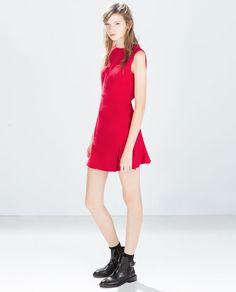 ZARA - WOMAN - DRESS WITH PLEATED SKIRT