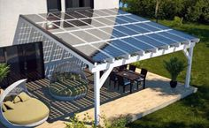 Go Green 4 Health. Good Tips On How To Take Advantage Of Solar Energy. Solar power has been around for a while and the popularity of this energy source increases with each year. Solar energy is great for commercial and residen Patio Roof, Pergola Patio, Pergola Kits, Modern Pergola, Carport Ideas, Carport Garage, Carport Designs, Pergola Carport, Small Pergola