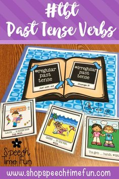 TBT Past Tense Verbs - work on grammar with your speech and language students with this fun and motivating activity.