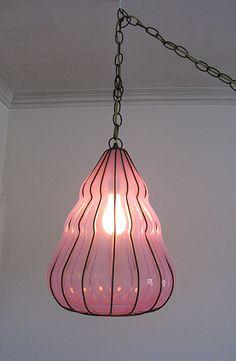 Vintage Italian Murano Glass Pendant Chandelier