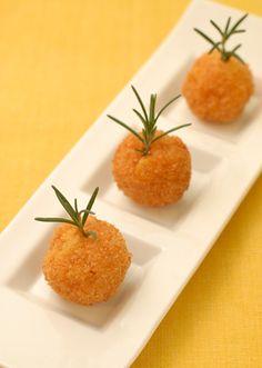 ライスコロッケのピンチョス~コーンとチーズをケチャップ味で~
