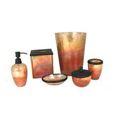 paradigm trends 6 piece lava amber bathroom accessories set store your bathroom necessities in style with the paradigm trends 6 piece lava amber bathroom