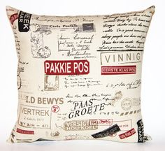 Afrikaans Pillow Cushion no R. Cover only. by DecorativePillowCush