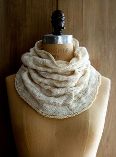 Laura's Loop: White Caps Cowl - The Purl Bee - Knitting Crochet Sewing Embroidery Crafts Patterns and Ideas!