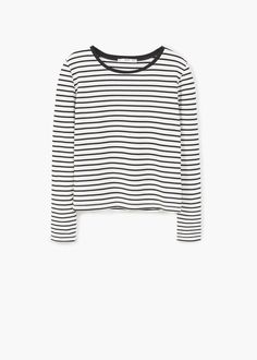 black and white stripes shirt mango