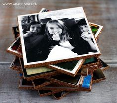 Easty to make, these DIY Photo Coasters will keep your favorite photos nearby and totally display-worthy! Sorta like old-school photo albums, only more useful!