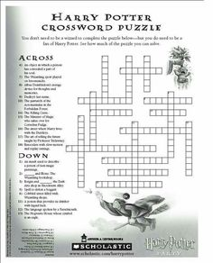 Harry Potter Crossword Puzzle: When you ain't doing anything Harry Potter Word Search, Harry Potter Words, Harry Potter Games, Harry Potter Classroom, Harry Potter Printables, Theme Harry Potter, Harry Potter Cosplay, Harry Potter Halloween, Harry Potter Christmas