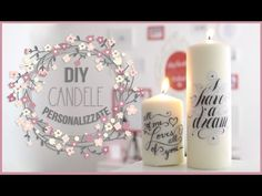 Do you like candles?Have a look at this video that will show you how to personalize a simple candle.Be creative. Sweet Light, Prayer For Husband, Personalized Candles, Candle Making, Pillar Candles, I Card, Diy Projects, Decoupage, Diy Crafts