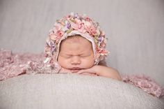 Little Emily Bonnet & Matching Wrap #New Born