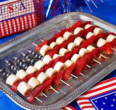 not much of a patriotic person but i like the fruit idea!