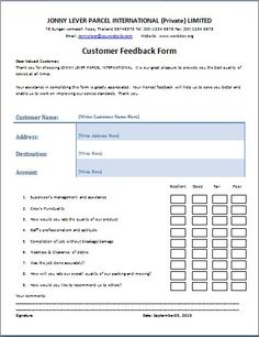 The customer feedback form is a written document or tool that is utilized to get the response or reaction from a person about any event, occasion, product or service. Customer feedback form template is ready to use format for this.: