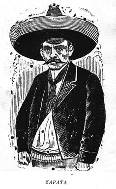 Jose Guadalupe Posada, the Mexican political cartoonist and engraver, is most famous for his amusing and often satirical calaveras (skulls) and skeletons, so I was surprised when I ran across this emphatically pre-mortem Posada portrait of the famous revolutionary from Morelos State, Emiliano Zapata.