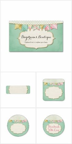Daydreams Boutique on @zazzle #handmade #sewing #kids #boutique #smallbusiness #marketing #branding #printable #stickers #cards #pricetags #labels #shabbychic #gold #bunting #fabric