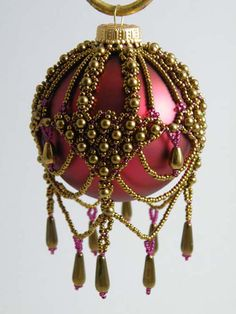 Beaded Brocade Ornament. Not a pattern.