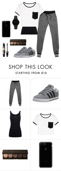 """""""Rian"""" by shoppingismycardio99 on Polyvore featuring adidas NEO, Juvia, WithChic, Max Factor and CLUSE"""
