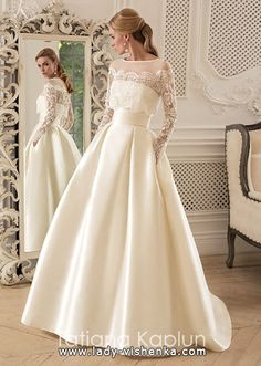 Wedding gown lace vintage bridal collection 51 Ideas for 2019 Satin Bridesmaid Dresses, Wedding Bridesmaids, Bridal Dresses, Long Sleeve Wedding, Wedding Dress Sleeves, Lace Dress, Lace Sleeves, Dress Long, Dream Wedding Dresses