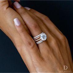 Wedding Rings Solitaire, Morganite Engagement, Engagement Ring Settings, Bridal Rings, Vintage Engagement Rings, Diamond Engagement Rings, Stacked Wedding Rings, Solitaire Engagement, Stacked Engagement Ring