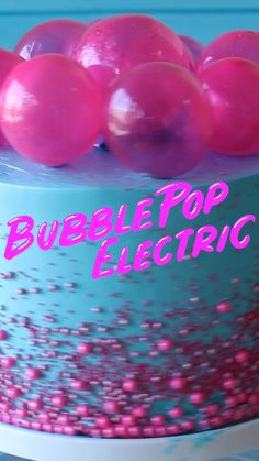 Pop Electric Cake Make a cake fit for a pop star with this strawberry bubblegum flavored cake with gelatin bubbles on top. Created byMake a cake fit for a pop star with this strawberry bubblegum flavored cake with gelatin bubbles on top. Cake Decorating Videos, Cake Decorating Techniques, Decorating Ideas, Crazy Cakes, Baking Recipes, Cake Recipes, Dessert Recipes, Baking Desserts, Food Cakes