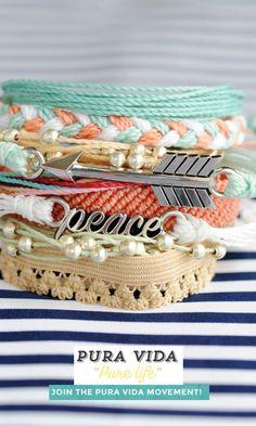 Spring accessory collection from Pura Vida Bracelets #FriendshipBracelet #Bracelet #StackedBracelet #Boho #Bohemian