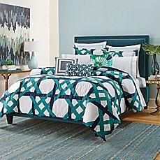 image of Trina Turk® Pacifica Pier Lattice Duvet Cover Set