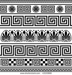 Greek Illustrations and Clipart. Greek royalty free illustrations, and drawings available to search from thousands of stock vector EPS clip art graphic designers. Border Pattern, Border Design, Pattern Design, Greek Pattern, Greek Design, Vase Crafts, Marquesan Tattoos, Greek Art, Mosaics
