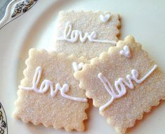 Love Sparkling Sugar Cookies Wedding Favor by SugarMeDesserterie, $19.95