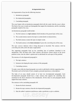 Format For Research Paper Argumentative Academic Essay Examples