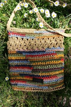 Sisal bag Sisal crossbody bag sisal purse vintage sisal