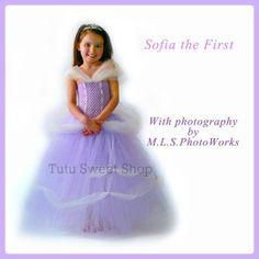 Handmade Sofia Inspired Tutu Dress Costume