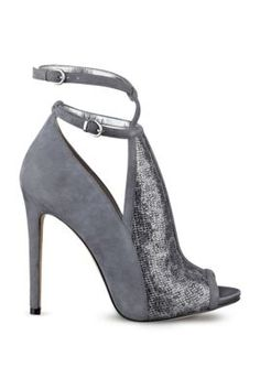 Antiago Glitter Peep-Toe Booties | GUESS.com