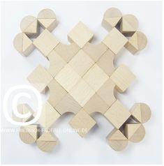 SCHÖNHEITSFORMEN (Mandalas) mit Holzbausteinen - Fröbel