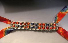 Recycled Soda Pop Can Tab Bracelet Tie Dyed by FireWarpedGlass, $6.00