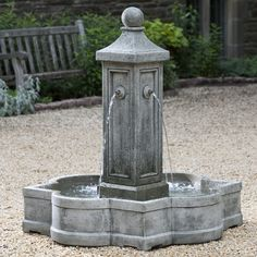 Free Shipping and No Sales Tax on the Provence Outdoor Water Fountain from the…
