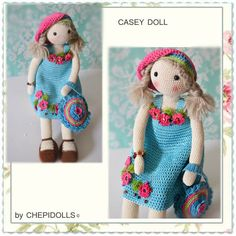 CROCHET DOLL Finished doll 13 Inch tall by chepidolls on Etsy
