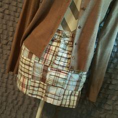 Patchwork skirt Aeropostale patchwork skirt, great fall colors! Aeropostale Skirts Mini