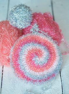 Bubbles, Spülschwamm Crochet Kitchen, Diy Crochet, Crochet Projects, Diy And Crafts, Crochet Earrings, Bubbles, Feather, Crochet Patterns, Stitch