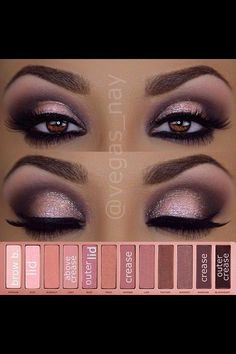 When it comes to eye make-up you need to think and then apply because eyes talk louder than words. The type of make-up that you apply on your eyes can talk loud about the type of person you really are. Drugstore Eyeshadow Palette, Brown Eyeshadow, Makeup For Brown Eyes, Eyeshadow Makeup, Shadow For Brown Eyes, Makeup Brush, Eye Makeup Steps, Makeup Tips, Makeup Ideas