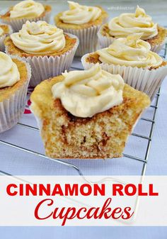 The ever popular Cinnamon Rolls made easily in cupcake form ! So quick and  easy (no swirling of the batter)