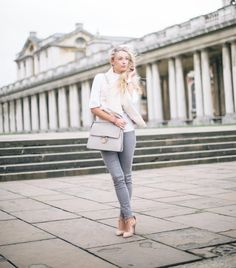 What to Wear With Grey Jeans #denim